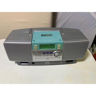 ソニー(SONY)のアイワ・CDラジカセ!モデル・CSD-EL300!グリーン(ラジオ)