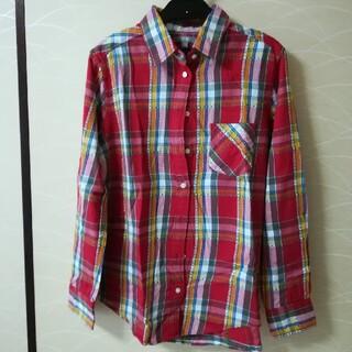ユニクロ(UNIQLO)の赤チェック★ネルシャツ(シャツ/ブラウス(長袖/七分))