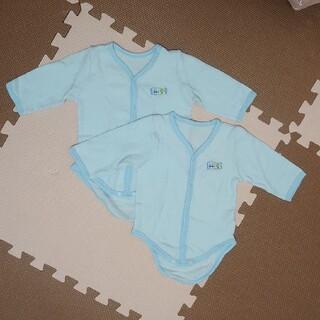 ニシキベビー(Nishiki Baby)の未使用★ニシキ 長袖ロンパース肌着 80cm 2枚セット(肌着/下着)