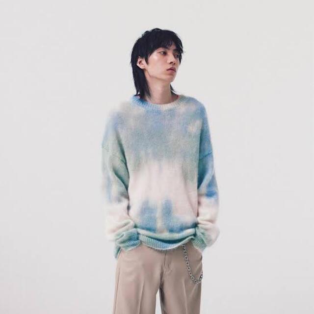 COMOLI(コモリ)のauralee SUPER KID MOHAIR TIE DYE KNIT  メンズのトップス(ニット/セーター)の商品写真