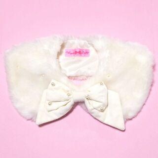 Angelic Pretty - アンジェリックプリティ リボンパール ファーティペット つけ襟