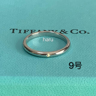 Tiffany & Co. - TIFFANY&Co.ティファニースタッキング ダイヤモンド1P プラチナリング