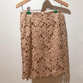 Demi-Luxe BEAMS - レーススカート 花柄 タイトスカート
