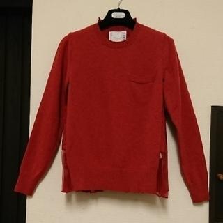 サカイ(sacai)の新品、未使用 バーニーズニューヨーク×sacaiバックプリーツ ニットセーター(ニット/セーター)