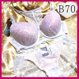 ブラショーツセット下着★セクシーホワイト★B70(ブラ&ショーツセット)