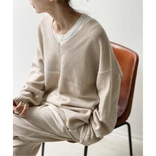 アパルトモンドゥーズィエムクラス(L'Appartement DEUXIEME CLASSE)のL'Appartement Feminity Knit キャメルA(ニット/セーター)