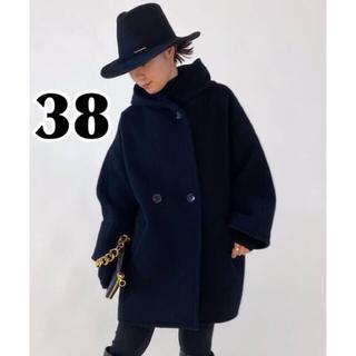 L'Appartement DEUXIEME CLASSE - AP STUDIO モッサ オーバーフーディーコート ブラック 38