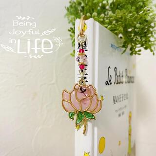 ♡ミニブックマーカー蓮の花♡ピンク(しおり/ステッカー)