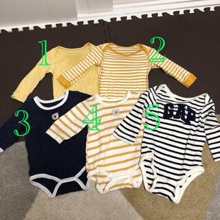 ベビーギャップ(babyGAP)のギャップ、ユニクロ、バースデーロンパース 5枚セット(ロンパース)