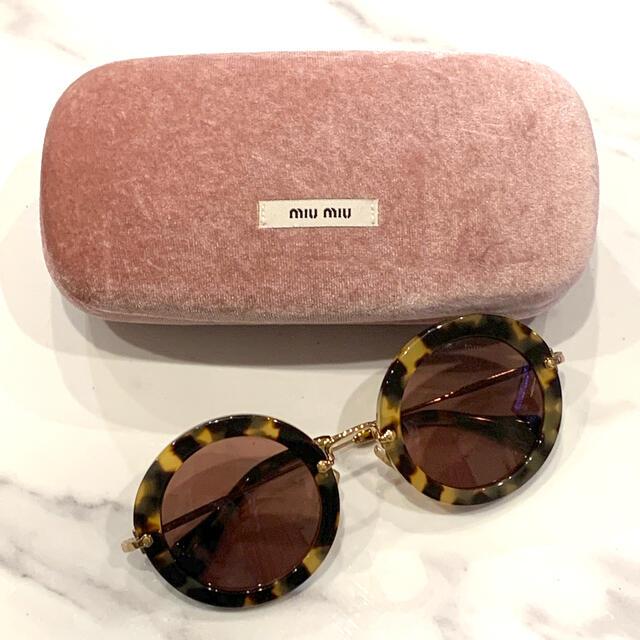 miumiu(ミュウミュウ)のmiumiuサングラス★べっこう柄 レディースのファッション小物(サングラス/メガネ)の商品写真