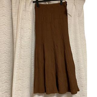 リリーブラウン(Lily Brown)のlily brown ニットスカート(ロングスカート)