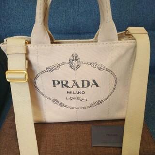 PRADA - 先着 正規銀座店 PRADA プラダ カナパトート CORDA ベージュ 美品