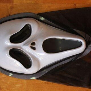 ホワイトスクリームマスク コスプレハロウィングッズ海外品クリスマス(小道具)