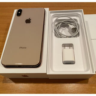 Apple - iphone xs max 256gb ゴールドgold simフリー 97%