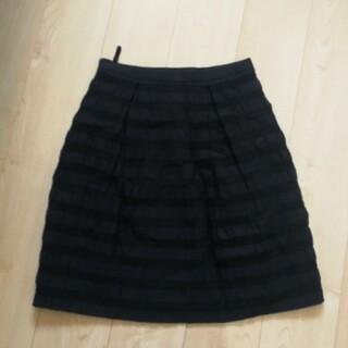インディヴィ(INDIVI)のIndivi ブラックスカート(ひざ丈スカート)