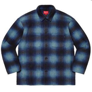 Supreme - Supreme Shadow Plaid Fleece Shirt 青S