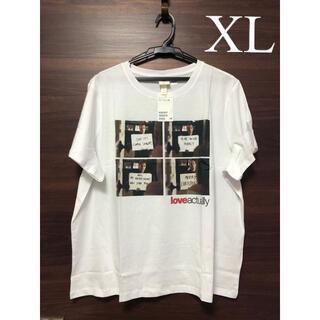 エイチアンドエム(H&M)の未使用タグ付 H&M 映画 ラブアクチュアリー Tシャツ XL(Tシャツ(半袖/袖なし))