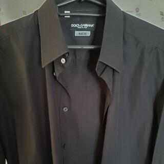 ドルチェアンドガッバーナ(DOLCE&GABBANA)のドルガバ メンズ ロングシャツ ブラック(シャツ)