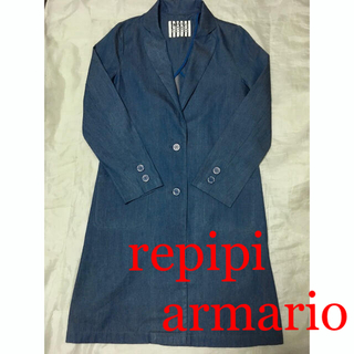 レピピアルマリオ(repipi armario)の新品☆repipi armarioチェスターコートデニムトレンチレピピアルマリオ(チェスターコート)