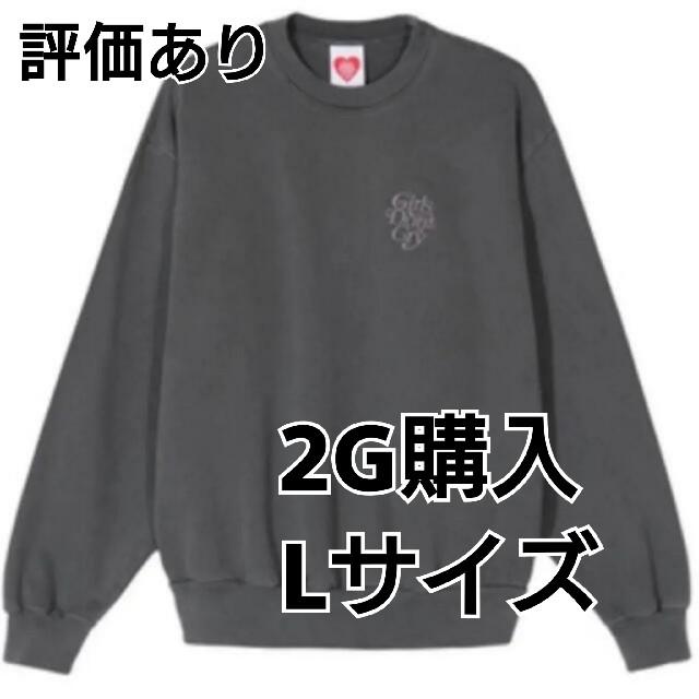 GDC(ジーディーシー)のLサイズ 黒 ガルドン トレーナー メンズのトップス(スウェット)の商品写真