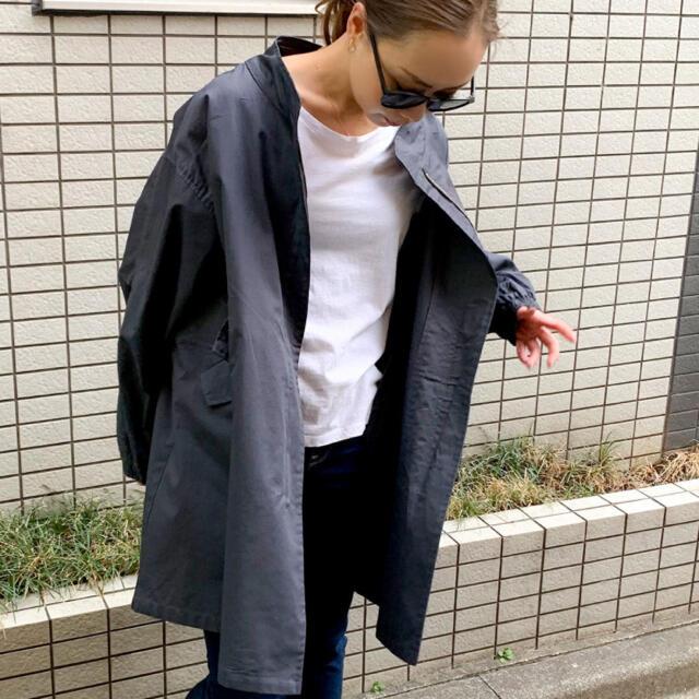 antiqua(アンティカ)のJUNOAH 薄手ブルゾンジップジャケット レディースのジャケット/アウター(ブルゾン)の商品写真