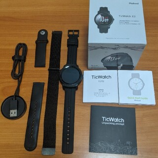 アンドロイド(ANDROID)のTicWatch E2 スマートウォッチ Google Wear OS バンド付(腕時計(デジタル))