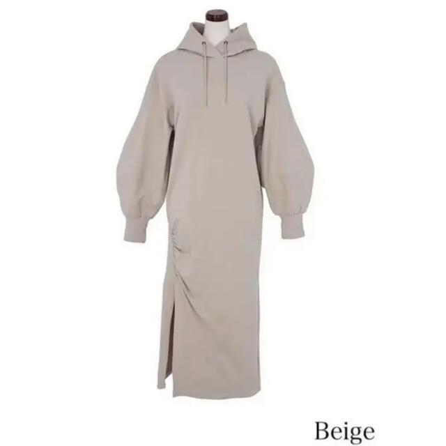snidel(スナイデル)のherlipto Dropped Shoulder Hoodie Dress レディースのワンピース(ロングワンピース/マキシワンピース)の商品写真