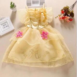 ビジョトヤジュウ(美女と野獣)のSALE⭐️ベル ドレス ベル コスチューム❤️サイズ130(ドレス/フォーマル)