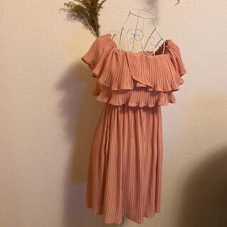 フリルピンクドレス 一点限り