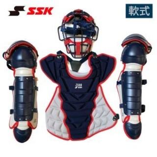 SSK - 軟式野球キャッチャー防具3点セット+1