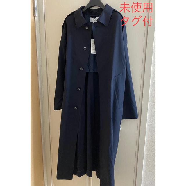 HYKE(ハイク)のHYKE ステンカラー トレンチコート ウールロングコート レディースのジャケット/アウター(ロングコート)の商品写真