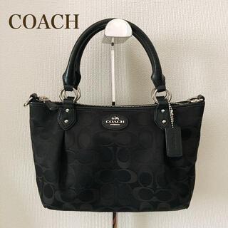 COACH - 美品 COACH コーチ シグネチャー コレット ミニ ハンドバッグ ブラック