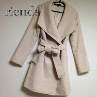 rienda - 【半額以下】rienda BIGカラーウエストリボンコート❃トレンチコート