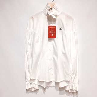 Vivienne Westwood - 新品タグ付き ヴィヴィアンウエストウッド 縦襟 袖 フリル ブラウス シャツ