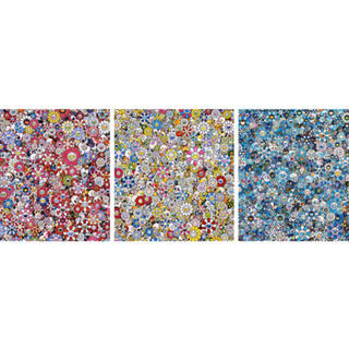 zingaro お花ドクロ シリーズ 3種(版画)