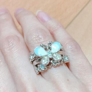 アナスイ(ANNA SUI)のアナスイ 三連リング 9号 指輪 蝶々 美品(リング(指輪))