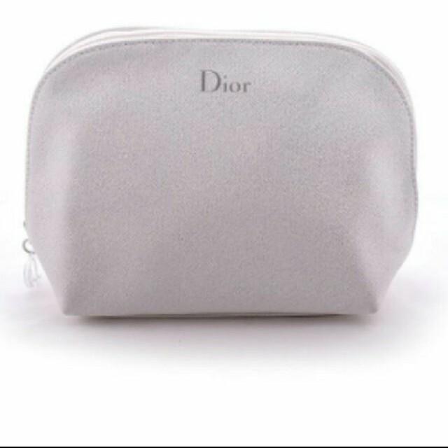 Dior(ディオール)のディオール ホワイト ラメ ポーチ レディースのファッション小物(ポーチ)の商品写真