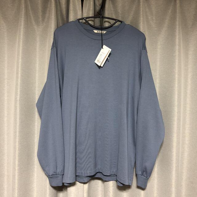 AURALEE 20AW オーラリー ロングスリーブT ブルーグレー 3 完売 メンズのトップス(Tシャツ/カットソー(七分/長袖))の商品写真