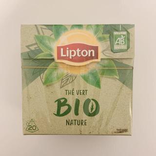 パリ発 新品未開封 リプトン グリーンティー BIO  ナチュラル 茶(茶)