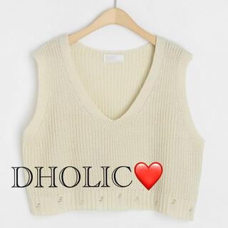 ディーホリック(dholic)のDHOLIC♡ダメージニットベスト(ベスト/ジレ)