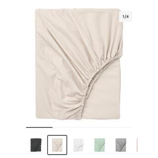 イケア(IKEA)のベッドシーツ ベッドカバー IKEA DVALA シングル(シーツ/カバー)