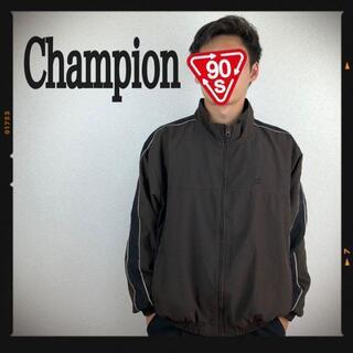 チャンピオン(Champion)のチャンピオン ナイロンジャケット 90s ブルゾン 古着 ブラウン 茶色 刺繍(ナイロンジャケット)