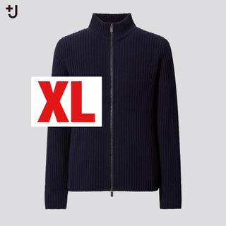 ユニクロ(UNIQLO)の【XL】ミドルゲージリブフルジップセーター +J ジルサンダー UNIQLO(ニット/セーター)