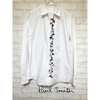 Paul Smith - ポールスミス paul smith 花柄 シャツ 刺繍 長袖 ホワイトシャツ