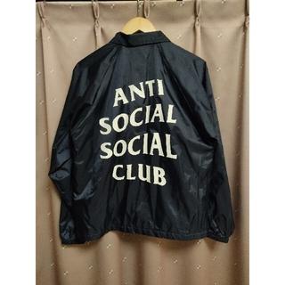 アンチ(ANTI)のANTI SOCIAL SOCIAL CLUB コーチジャケット ネイビー(ナイロンジャケット)