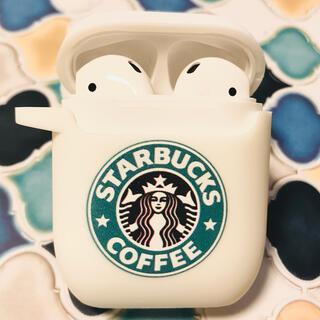 スターバックスコーヒー(Starbucks Coffee)のAirPods ケース スタバ風 白(iPhoneケース)