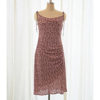 Cherry Pattern Layered Cami Dress