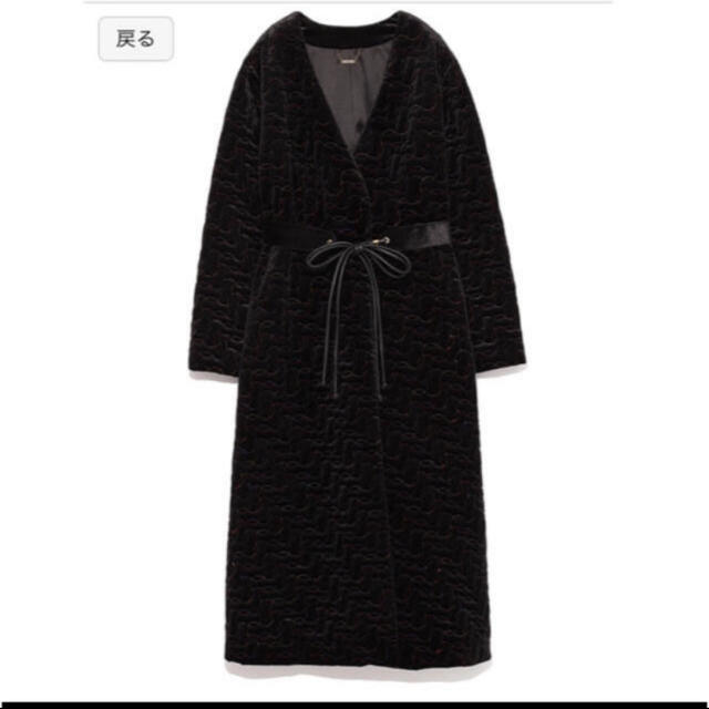 Lily Brown(リリーブラウン)のリリーブラウン ベルト付き キルティングコート lily brown レディースのジャケット/アウター(ロングコート)の商品写真