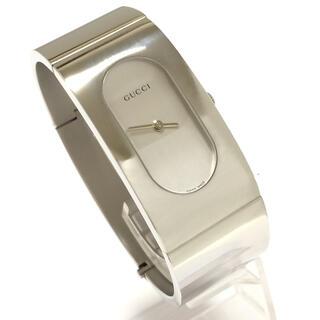 Gucci - 2.美品 グッチ GUCCI 時計 2400L ワイドバングル