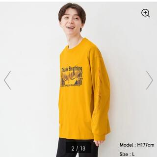GU - GU 鬼滅の刃 Tシャツ 我妻善逸  黄色 イエロー L